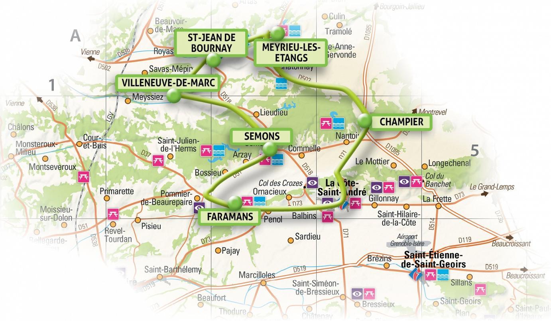 CIRCUIT 3-faramans-villeneuve-de-marc-st-jean-bournay-meyrieu-les-etangs-semons-champier